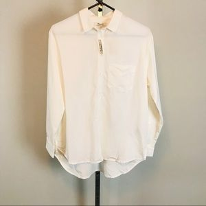 Madewell White Long Sleeve Button Up Shirt NWT